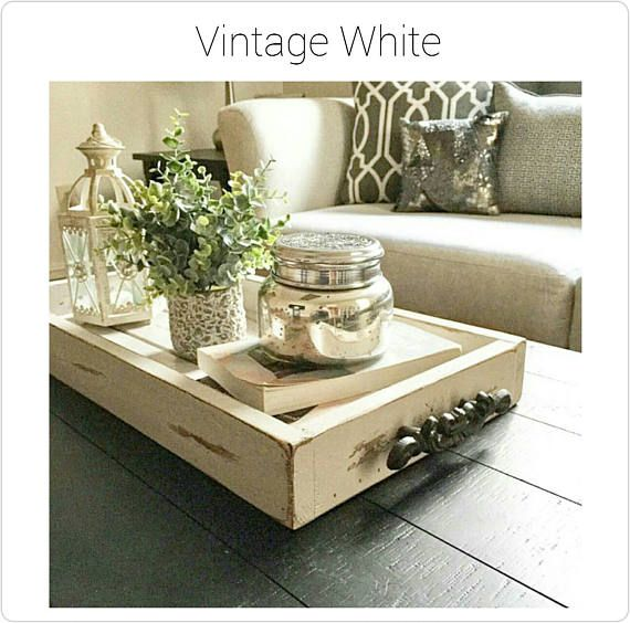 12 x 24 magazine tray coffee table tray rustic wooden - Home decor subscription box ...