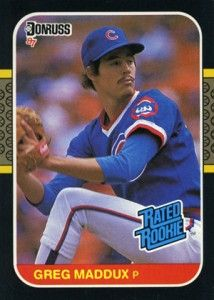 30 Standout Baseball Cards From The Junk Wax Era Baseball Cards Greg Maddux Cubs Baseball