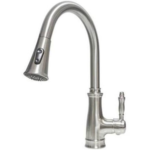 17 3 in single handle pull out kitchen faucet brush nickel finish rh pinterest com