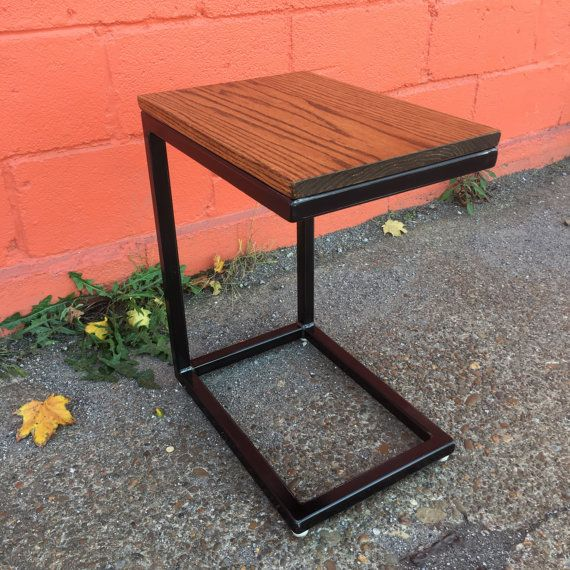 c style cantilever end table night stand metal base w red rh pinterest com