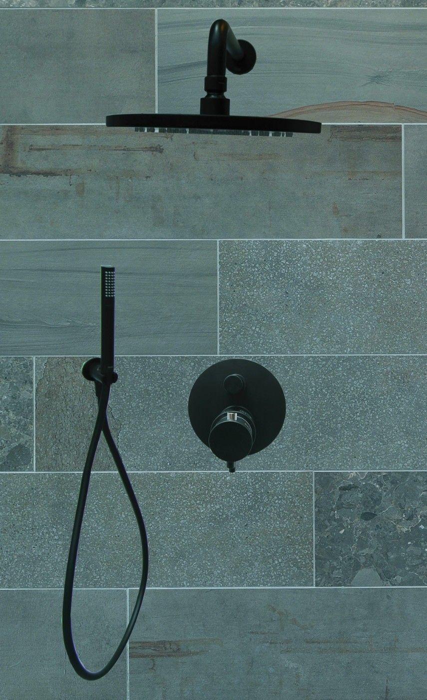 Zwart design in je douche of badkamer is momenteel dé trend. Strak ...