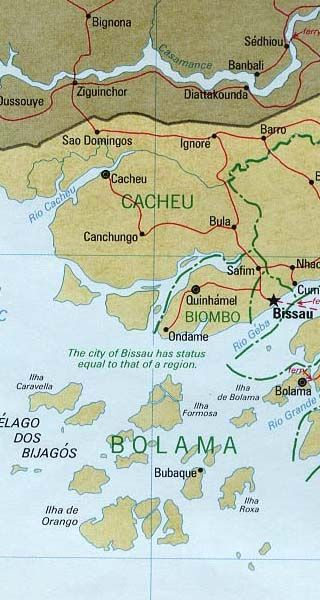 GuineaBissau map AFRICA Pinterest Guinea bissau and Africa