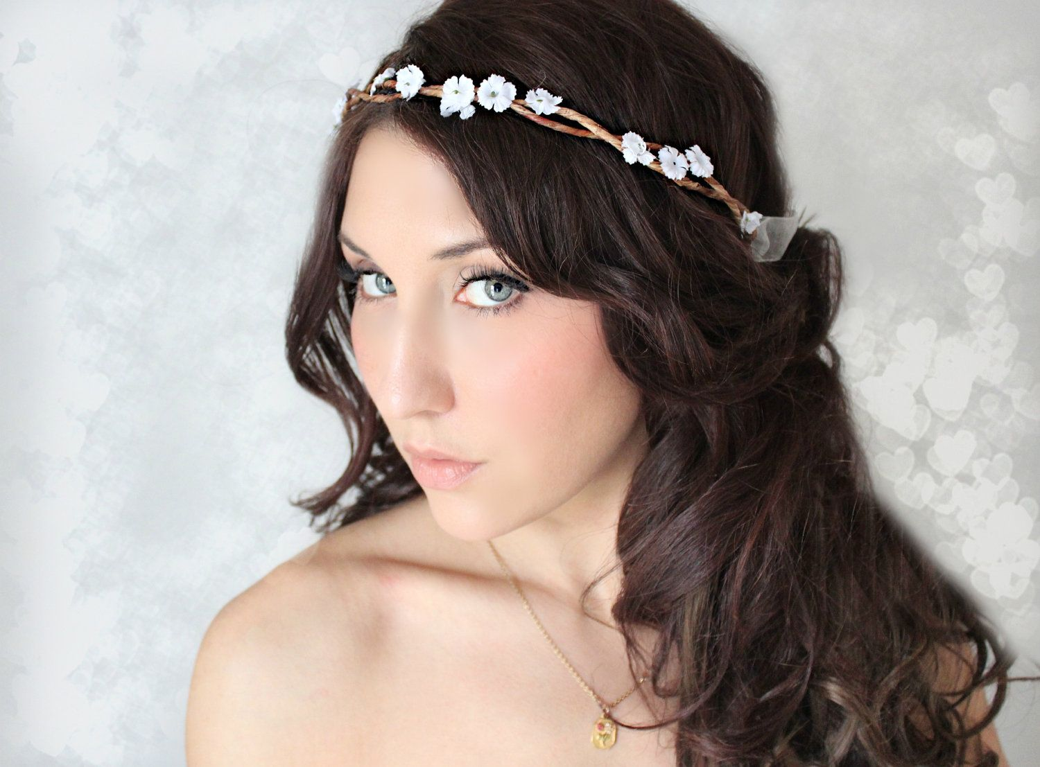 Tiny Rustic Flower Crown Woodland Wedding Bridal Accessories