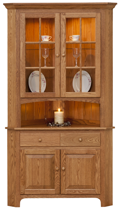 shaker hutches cherry oak maple solid wood china cabinets corner rh pinterest com