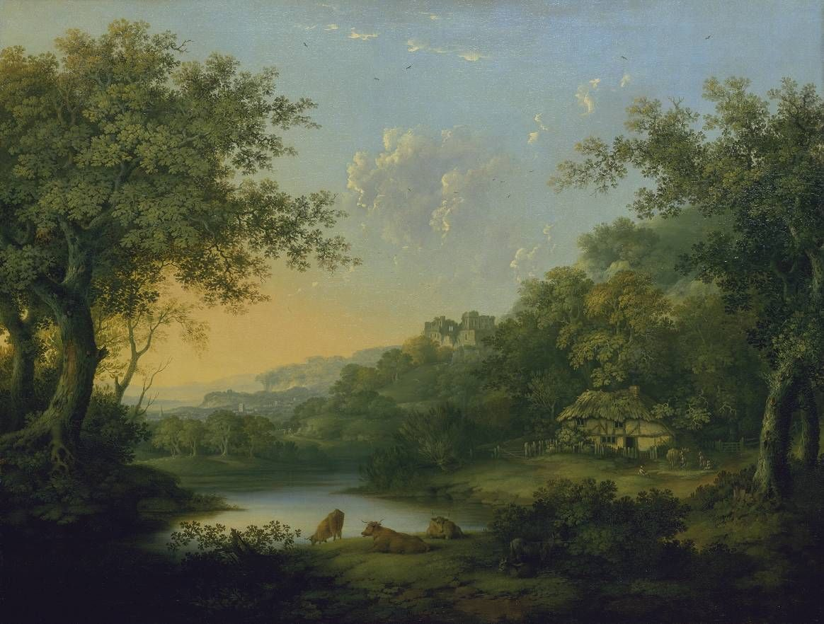 Landscape paintings 18th century james lambert for Garden design 18th century