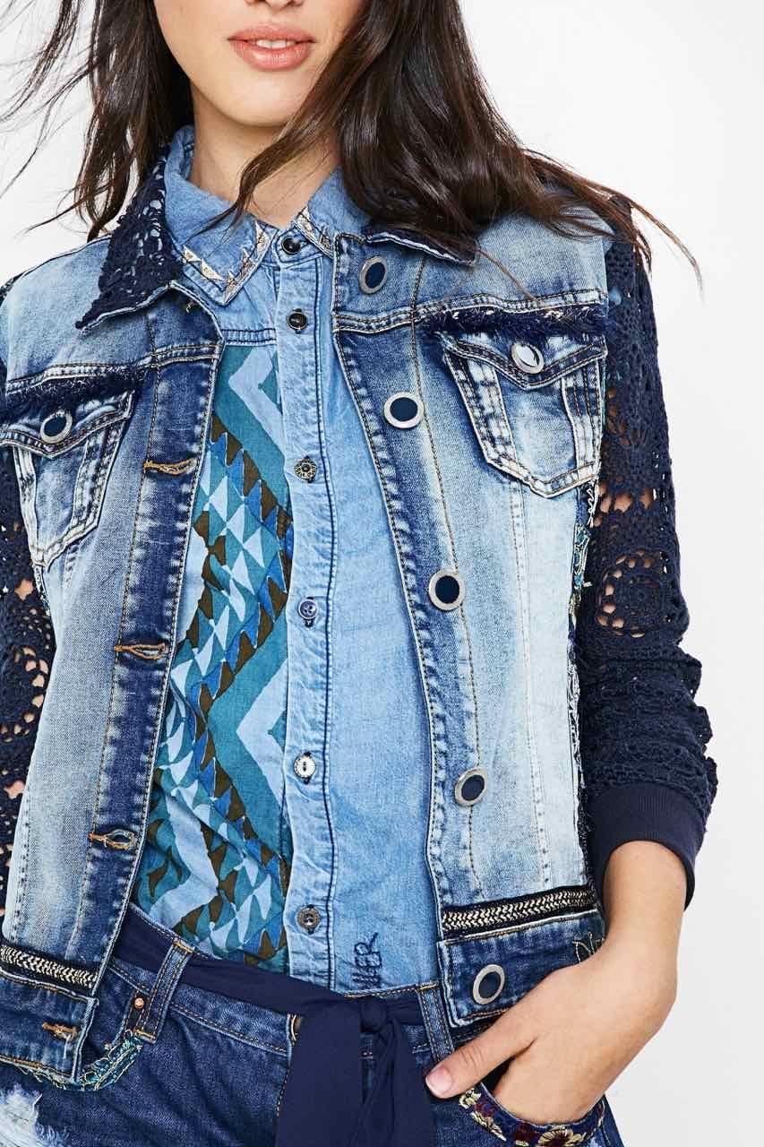 72E2JC7 5053 Desigual Denim Jacket Exotic Blue Buy Online   Exotic ... 18865c7d94a0