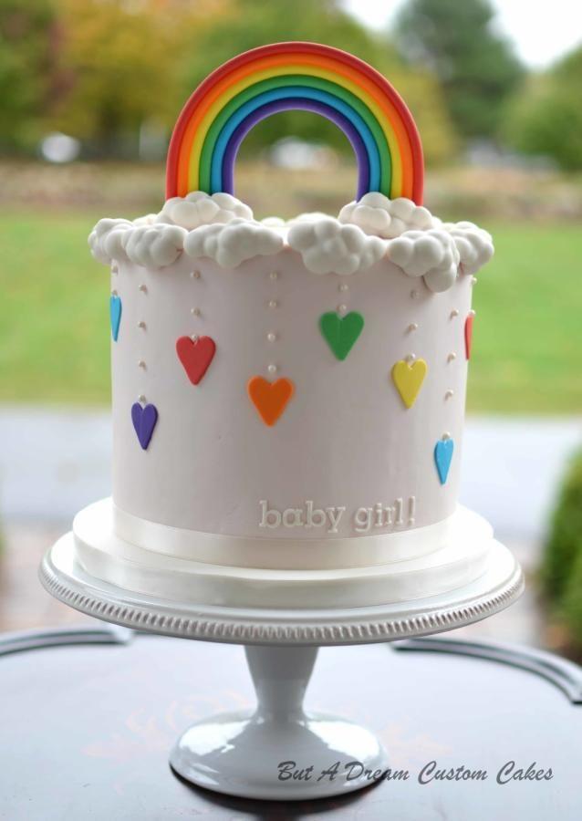 Rainbow Baby Cake By Elisabeth Palatiello Rainbow Smash Cakes Rainbow Birthday Cake Rainbow Cake