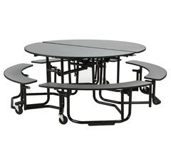 Round And Collapsible Cafeteria Tables D4 P2