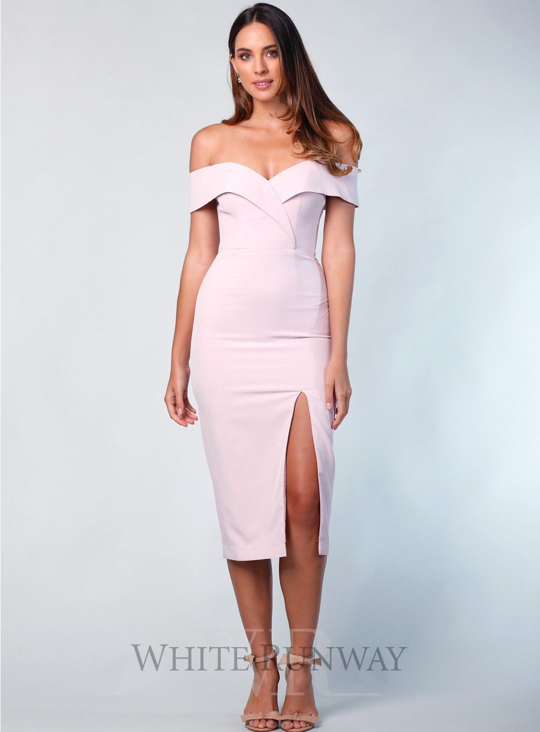 83411dc29d5 Gia Off Shoulder Midi. A beautiful midi by Samantha Rose. An off shoulder  style featuring crossover detailing on the bust and a side split in the  skirt.