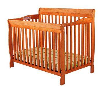 Amazon Com Dream On Me Ashton Convertible 4 In 1 Crib Pecan Baby Cribs Best Crib Dream On Me