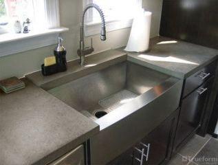 bath room farmhouse sink concrete countertops 58 ideas farmhouse rh pinterest com