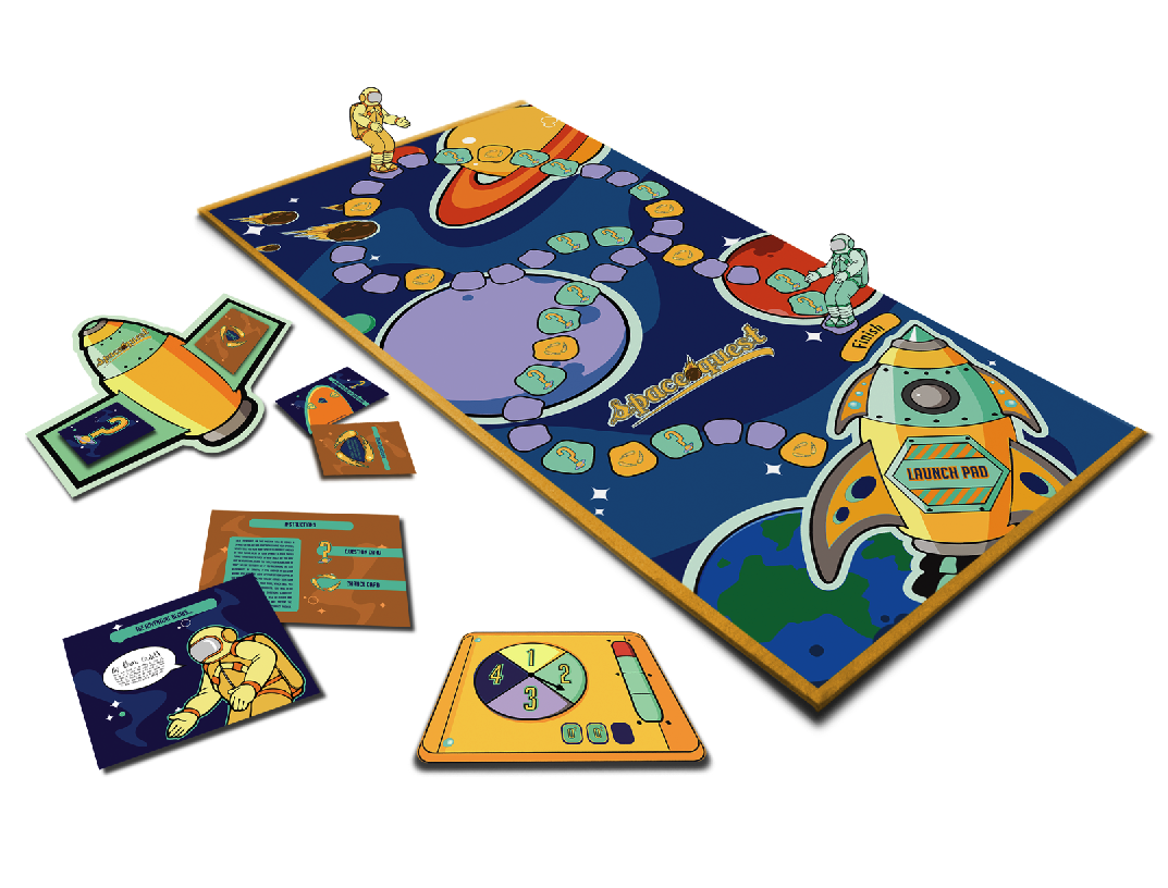 Space Quest Board Game By Stevethehouse Png 1 073 816 Pixels Board Games Childrens Board Games Games