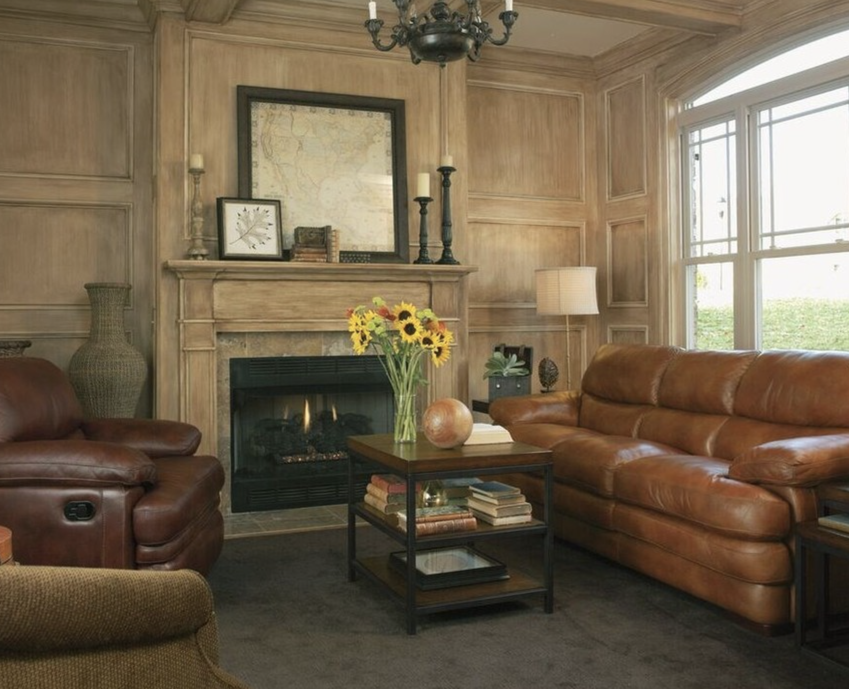 for a farmhouse rustic look in your living room use dark tones rh pinterest com