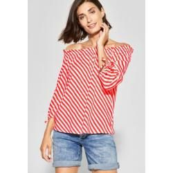 Photo of Street One – Diagonal-Print Bluse Odetta in Bright Coral Street OneStreet One