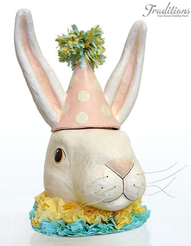 Vintage Easter Decorations Ornaments Paper Mache Pinterest