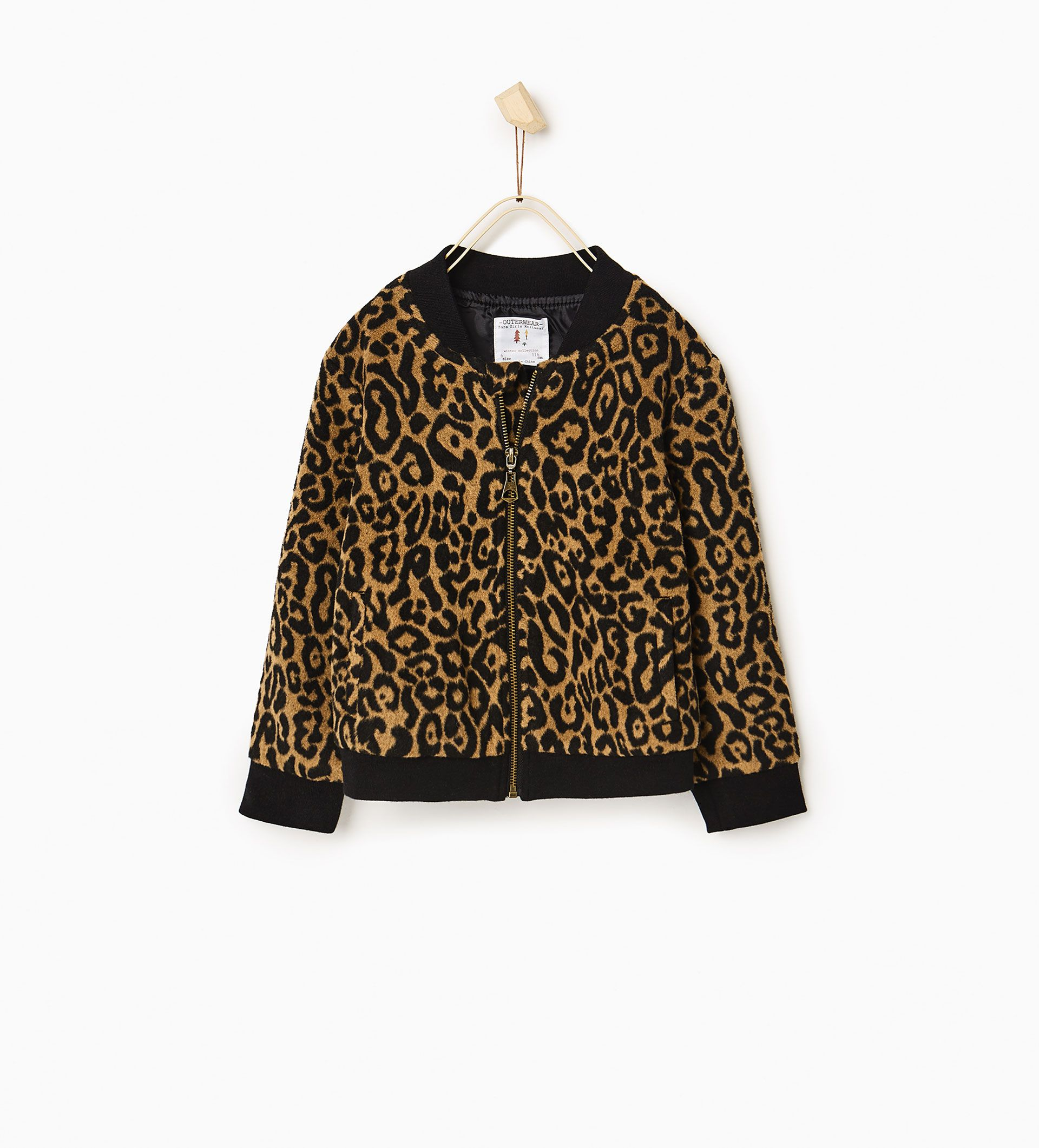 Image 1 of Leopard bomber jacket from Zara Clothes