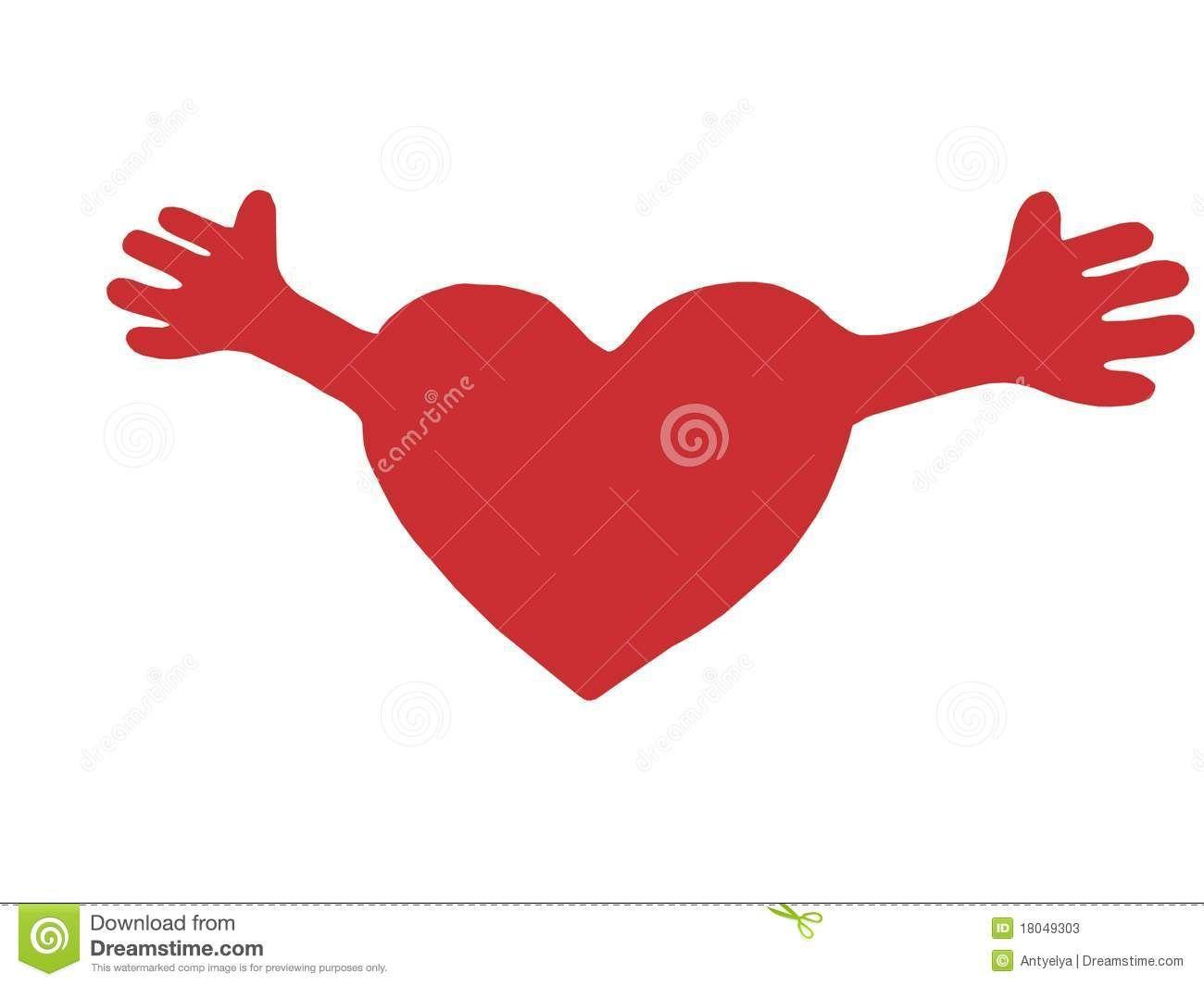 Coracao Vermelho Com Bracos Abertos Imagem De Stock Imagem De