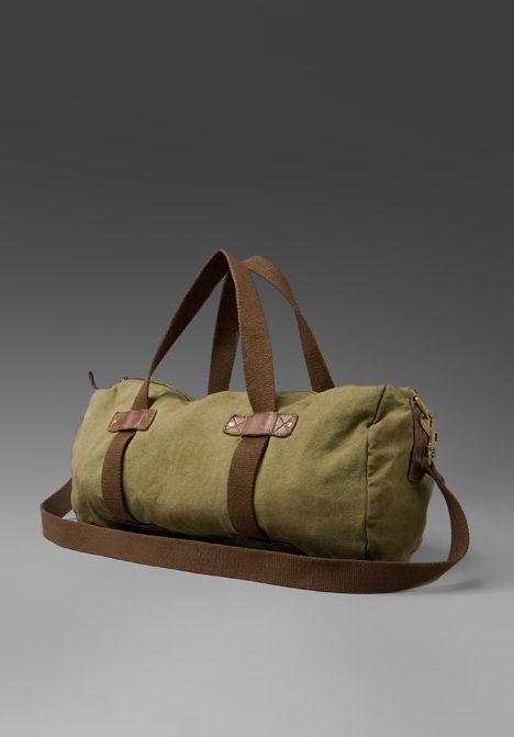 eb90d9af1eda ALTERNATIVE APPAREL The Safari Duffle Bag in Vintage Army