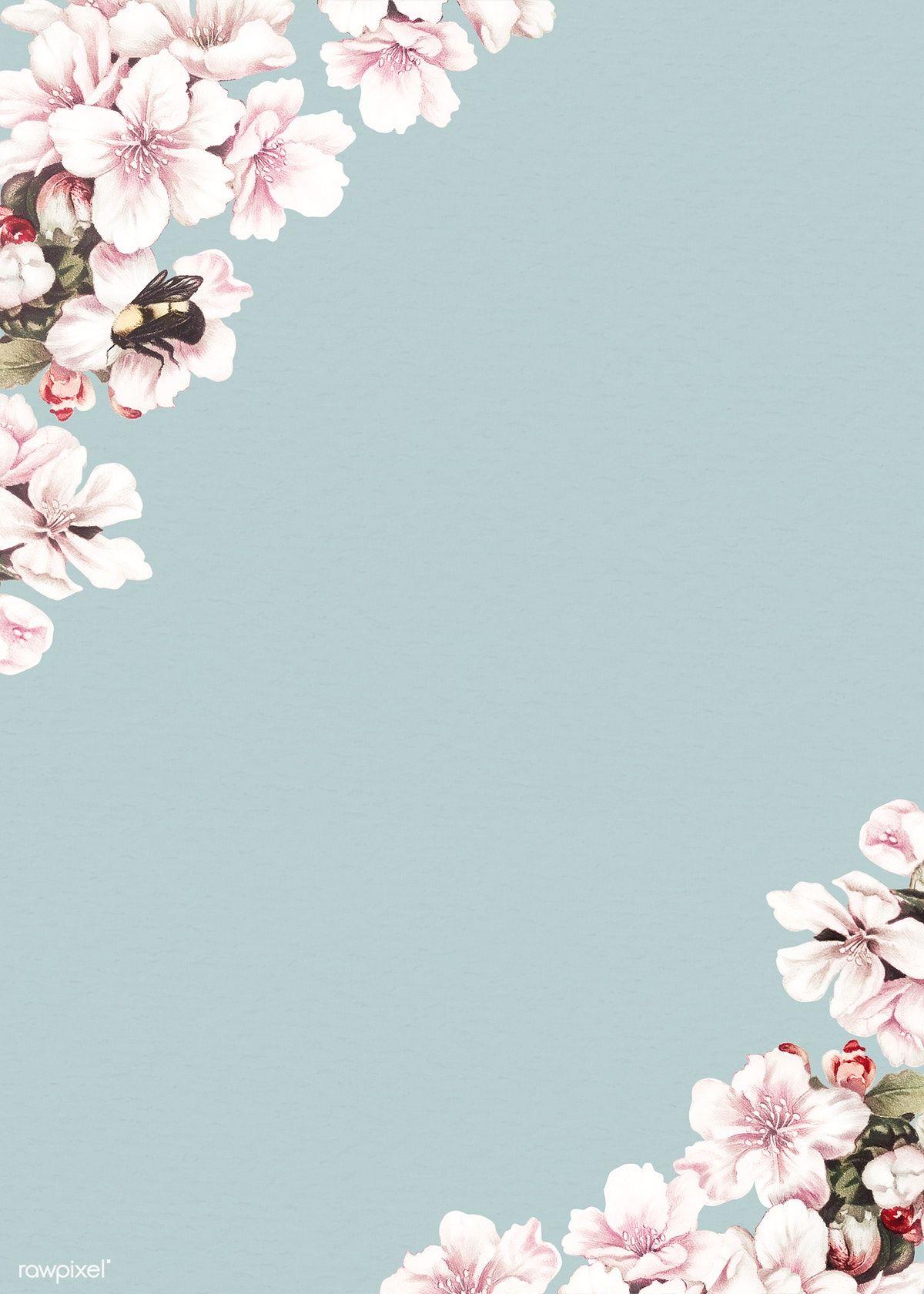 Blank Blooming Floral Card Design Free Image By Rawpixel Com Vector Vectoart Digitalpainting Digitalartist Floral Cards Design Floral Cards Card Design