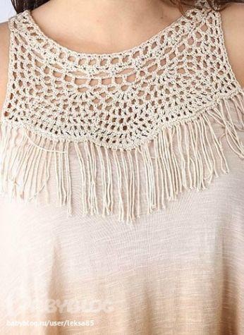 718f16f888 Vestidos de playa combinados en tela y crochet » Útiles de Mujer ...