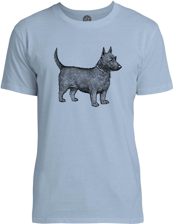 Vintage Puppy (Black) Mens Fine Jersey T-Shirt