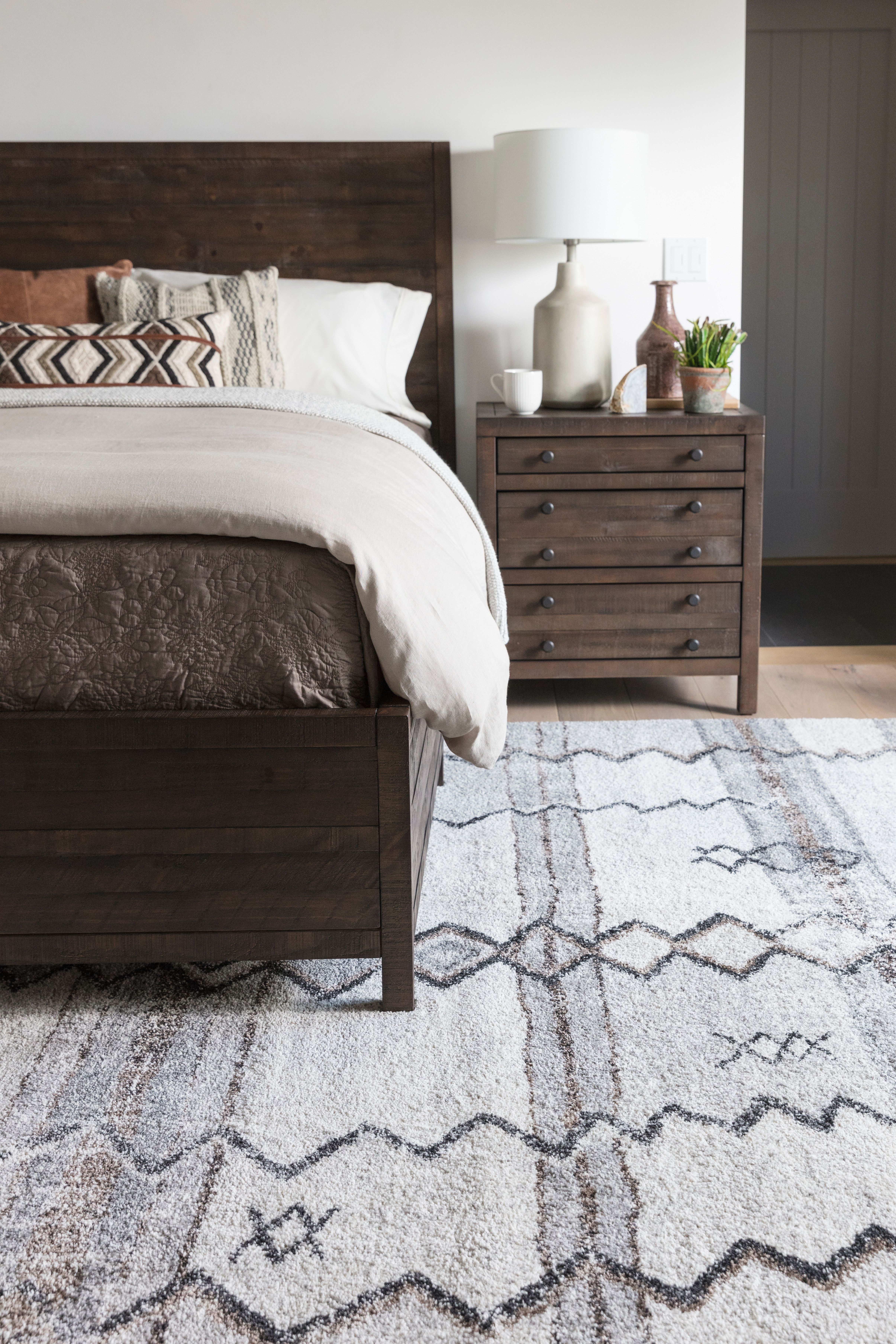 rowan nightstand bed frame vintage printmaker s cabinets are the rh pinterest com