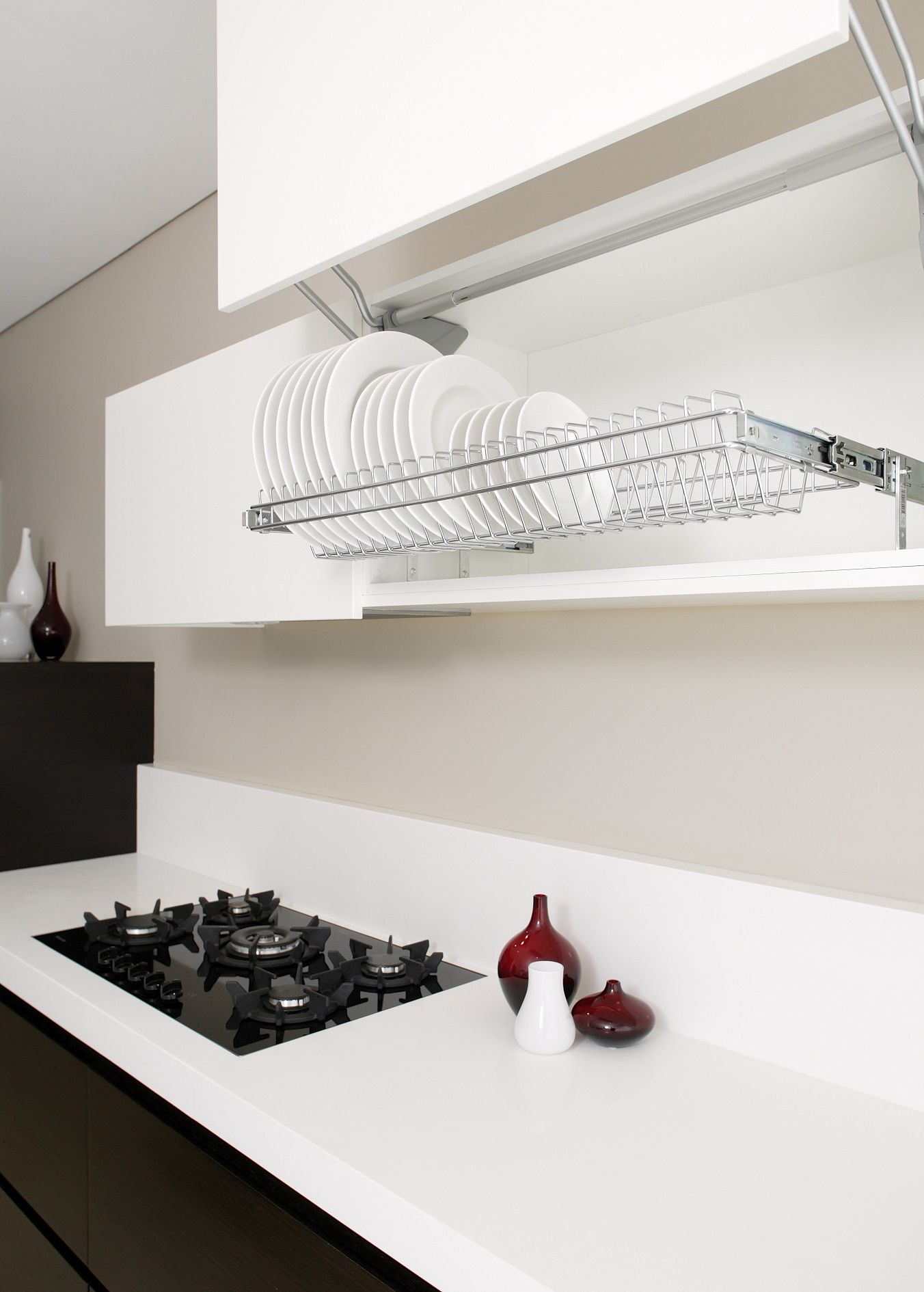 pull out plate racks apartment housing ideas kitchen cabinets rh pinterest com