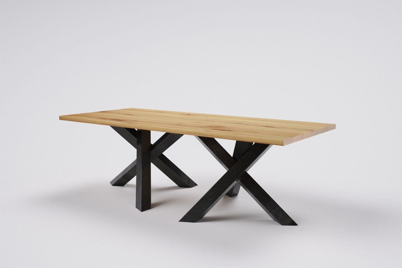 Edler Holztisch Aus Massiver Eiche Eignet Sich Wunderbar Als Esstisch |  Jetzt Auf Maß Gestalten Und