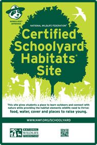 Image result for certified schoolyard habitat sign