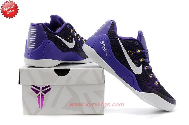 low priced e3c6b 77dc8 Mens 653972-601 Nike Kobe 9 EM Purple White Outlt Black Friday 63YIVO