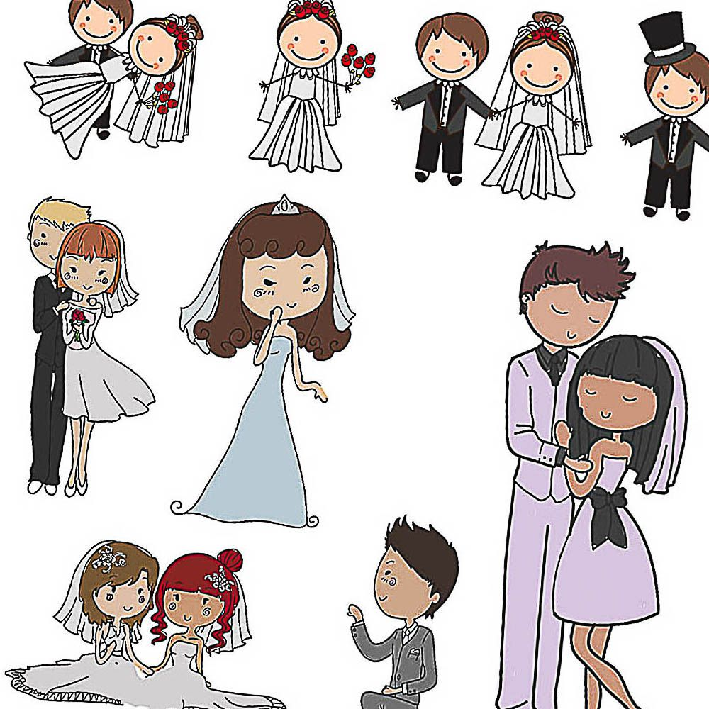 cartoon couple bride and groom vector free for download and ready rh pinterest com