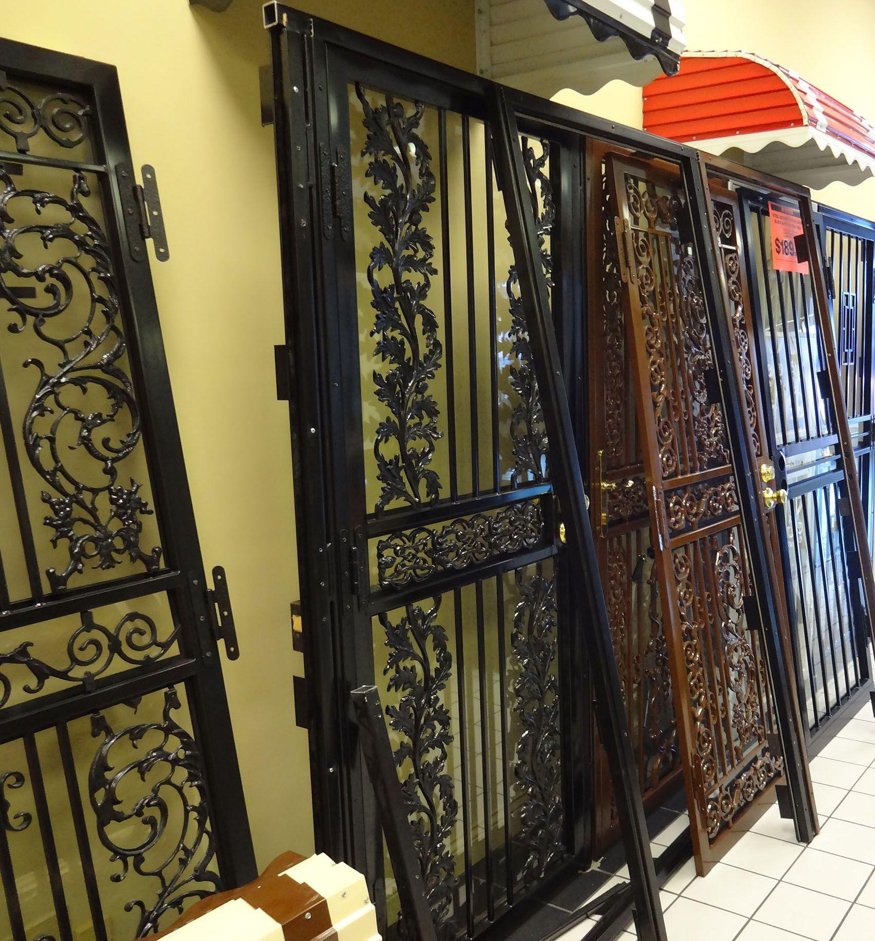 Ornamental Steel Security Storm Door Includes Kwikset Keyed Entry