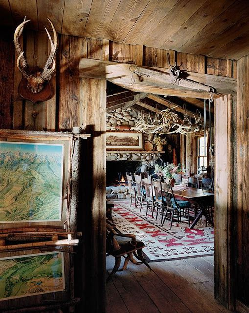 Decorating The Western Style Home   Rustic cabin decor ...