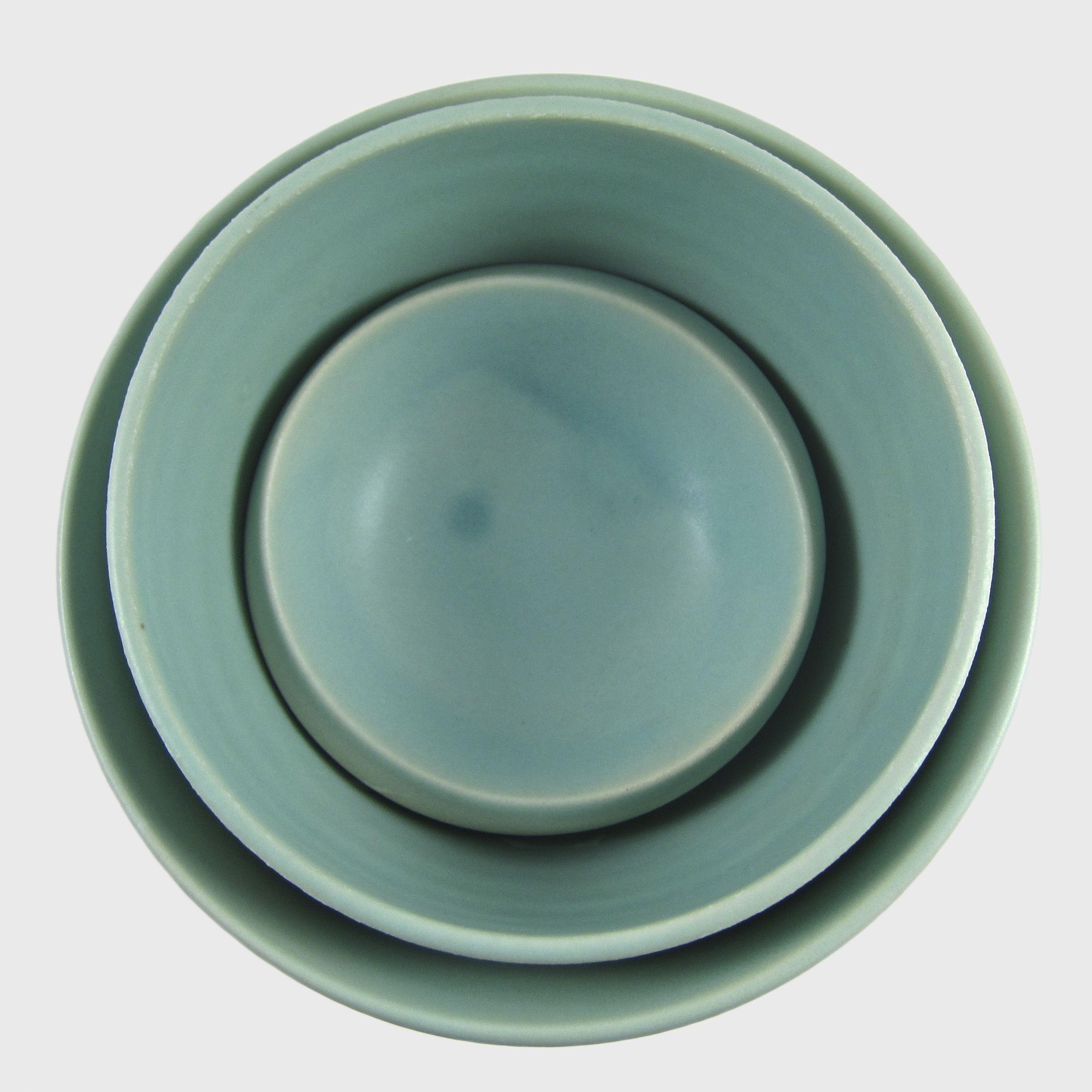 Japanese Matte Turquoise Ceramic Bowls