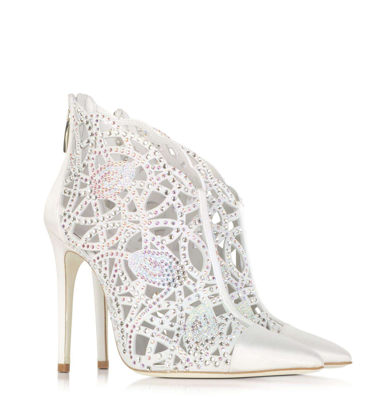 LORIBLU Designer Shoes, Satin Jewel Bootie