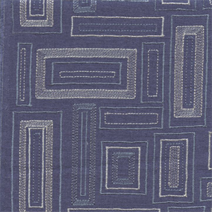 This is a blue and silver embroidered squares linen drapery fabric, suitable for any decor in the home or office.Perfect for drapes or lightweight upholstery.v244PIEF