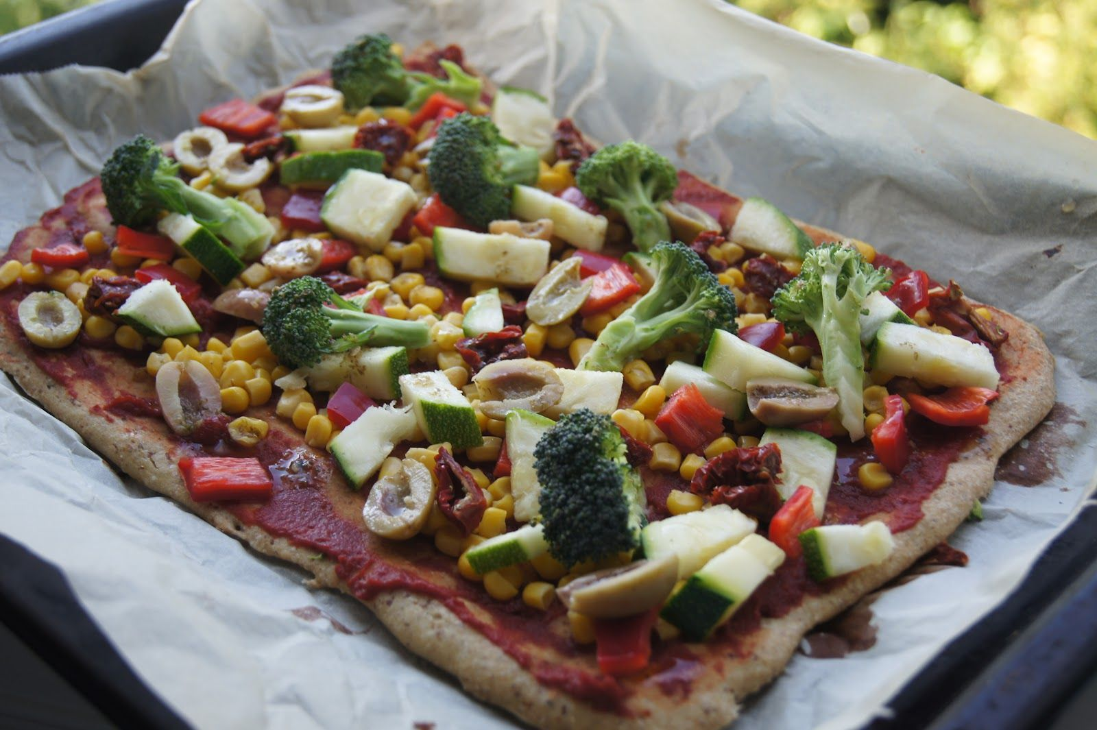 Basic glutenfree vegan pizza crust recipe with images