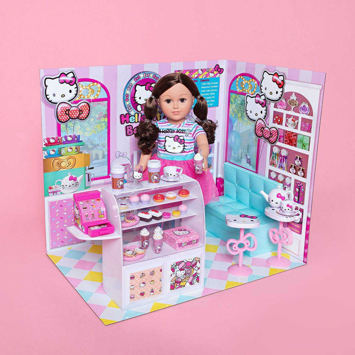 My Life As Hello Kitty Bakery Play Set For 18 Dolls 44 Pieces Walmart Com Hello Kitty Toys Hello Kitty Themes Hello Kitty Kitchen