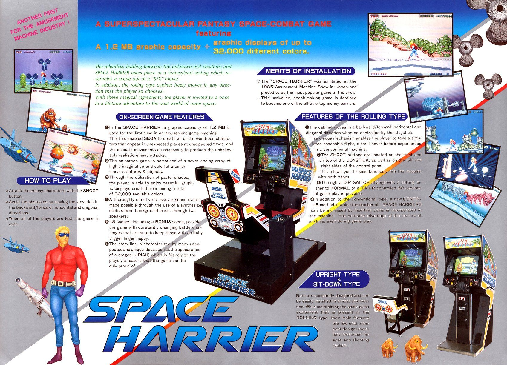 space harrier arcade cabinet - Google Search | Video Games ...