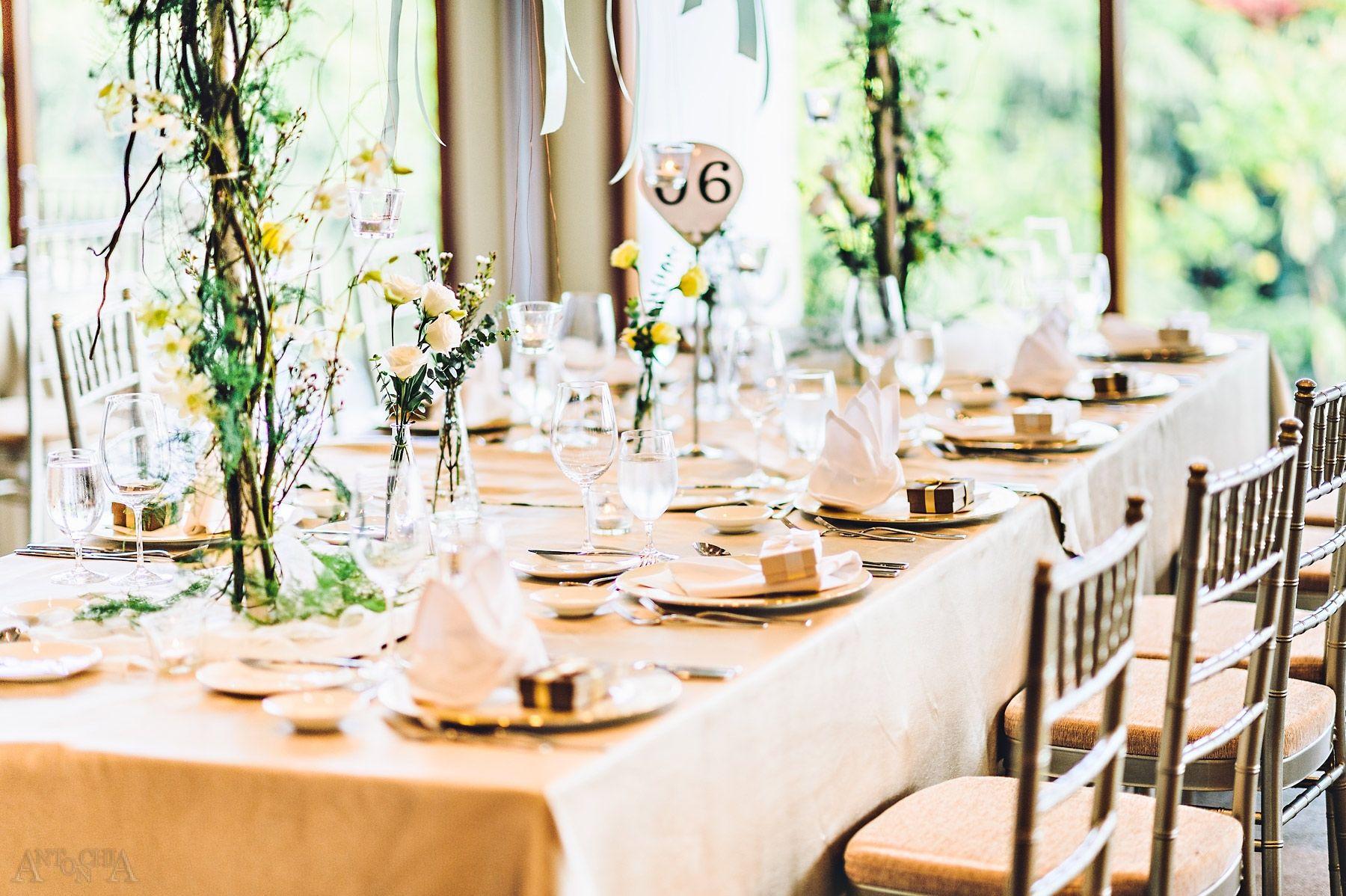 Capella Singapore garden theme wedding table setup | Singapore ...