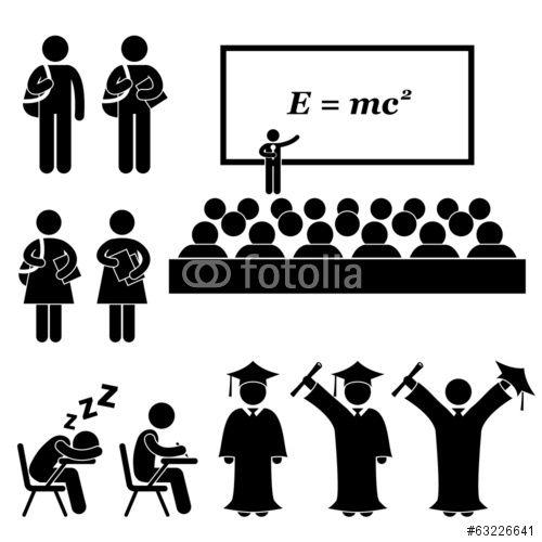 Student Lecturer Teacher School College University Graduate Stockfotos Und Lizenzfreie Vektoren Auf Fotolia Com Bild 632 Einfach Zeichnen Bilder Piktogramm