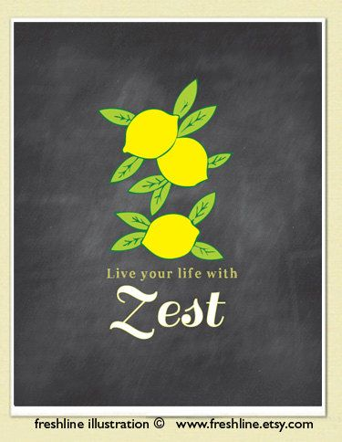 Superbe LIfe Your LIfe With Zest Lemons Quote Art Chalkboard By Freshline, $18.00