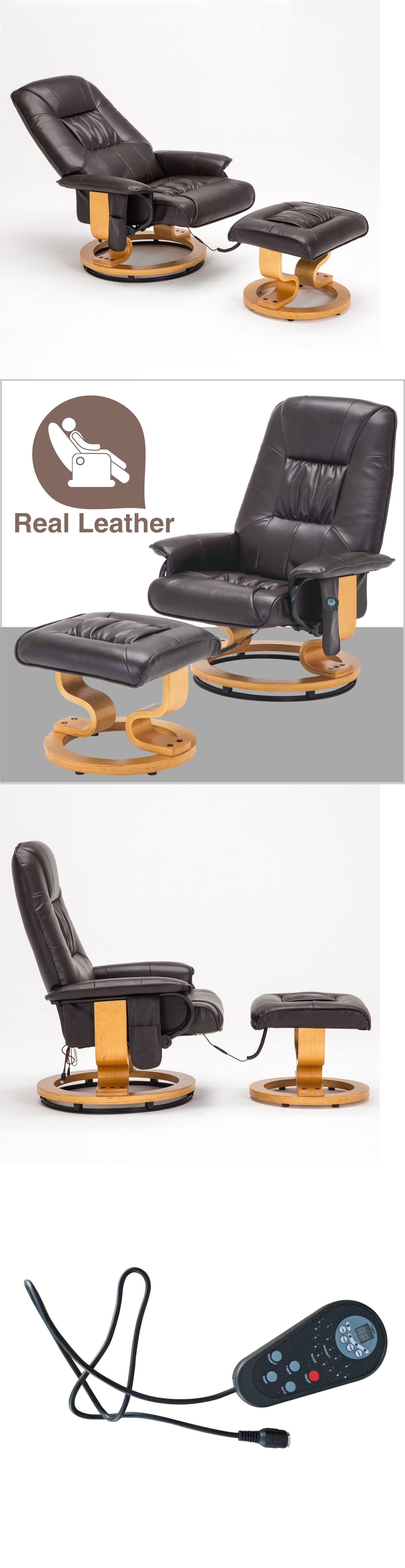 Electric Massage Chairs Real Leather Leisure Massage Chair