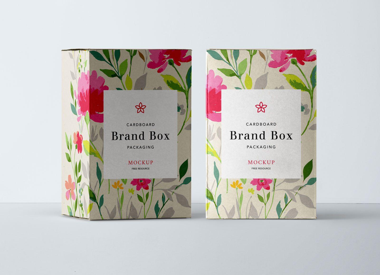 Free Cardboard Product Box Packaging Mockup PSD