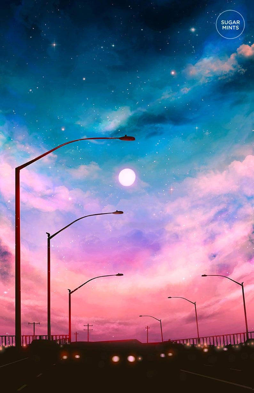 City Scenery Postcard: Dawn