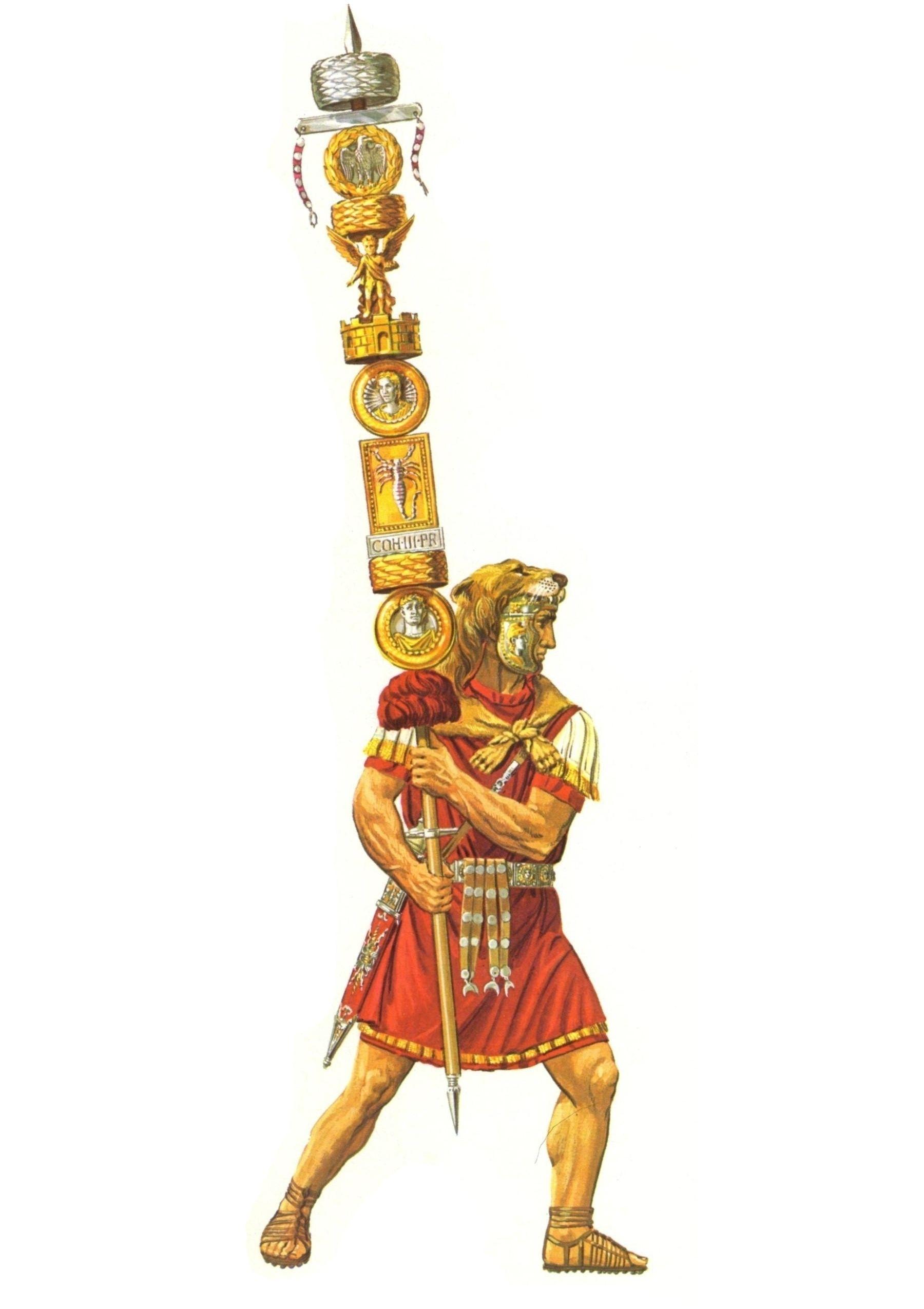 Сигнифёр 3-й преторианской когорты. Период правления императора Нерона.