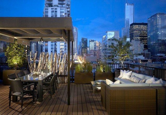 déco terrasse design urbaine de nuit | Terraces & Balconies ...
