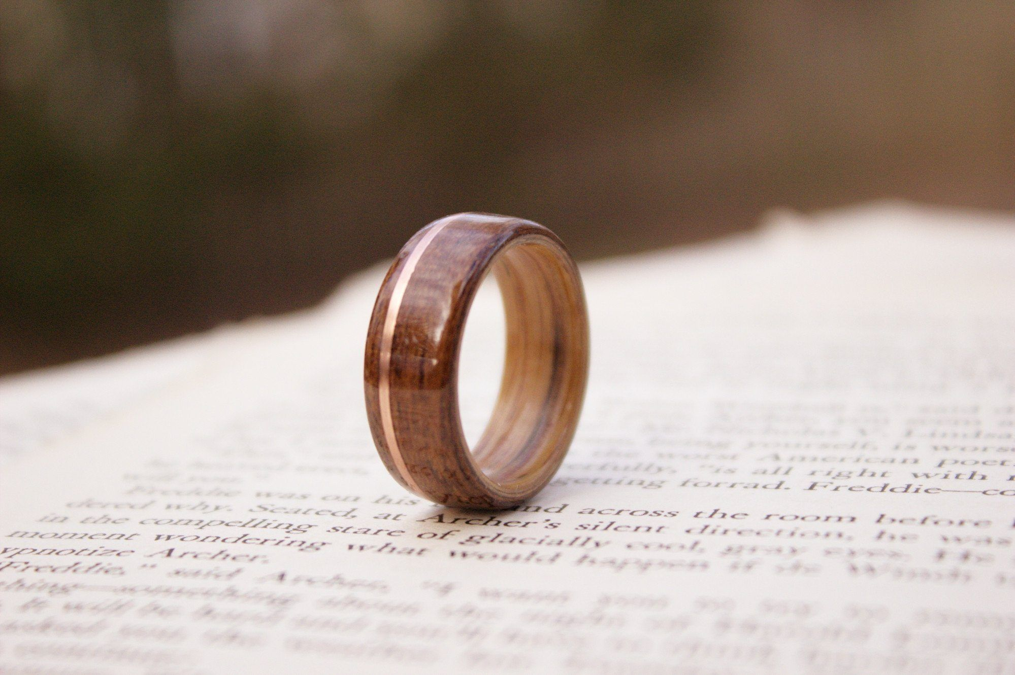 wedding wood sets wooden of best ring teak rings