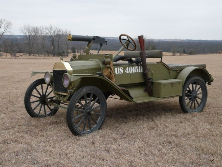 1916 Ford Model T Us Army Vehicle With 30 Cal Model T Us Army