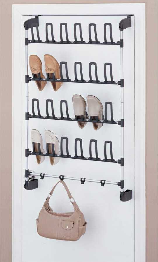 Neu Home Storage Neu Home Basics Overdoor 12 Pair Shoe Rack With
